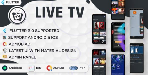 Online Movie and Live TV with Admin Panel   Flutter App   Admob   V1.0