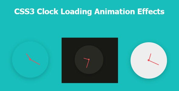 CSS3 Clock Loading Animation Effects