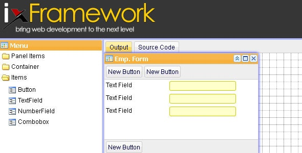 iX Framework Javascript Widget Framework
