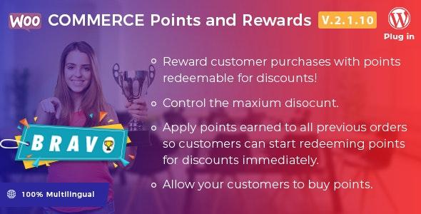 Bravo v2.1.10 – WooCommerce Points and Rewards – WordPress Plugin