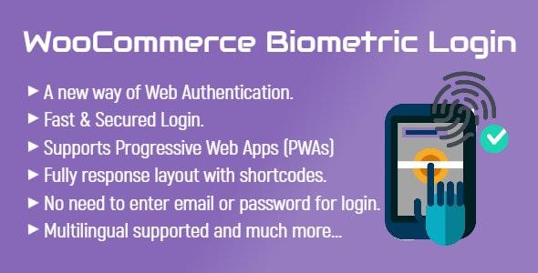 WooCommerce Biometric Login   Fingerprint   Web Authentication (WebAuthn) - CodeCanyon Item for Sale