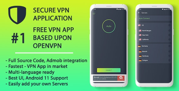Secure VPN Android Application using OpenVPN - Secure, Reliable VPN Android Application - CodeCanyon Item for Sale