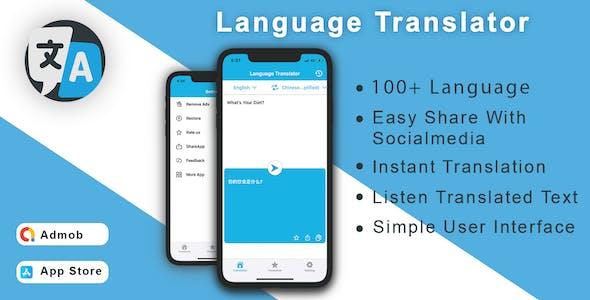 Language Translator & OCR Scanner ( Image to Text ) - iOS App Source Code