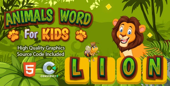 Animals Word for Kids