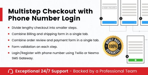 Multistep Checkout with Phone Number Login