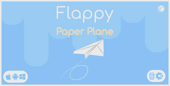 Flappy Paper Plane | HTML5 • Construct Game