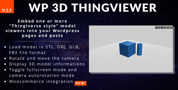 WP 3D Thingviewer - CodeCanyon Item for Sale