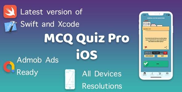 MCQ Quiz Pro (iOS App)
