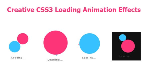 Creative CSS3 Loading Animation Effects