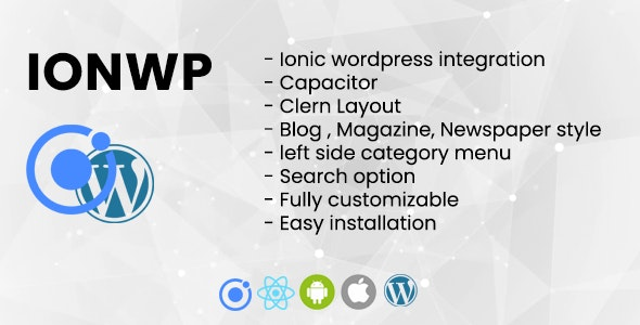 IONWP - Build mobile app from WordPress - CodeCanyon Item for Sale
