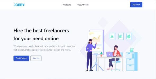 Jobby - Complete Freelance Job Portal with Instant Messaging