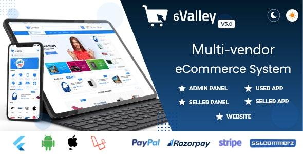 6valley Multi-Vendor E-commerce v3.0 – Complete eCommerce Mobile App, Web, Seller and Admin Panel
