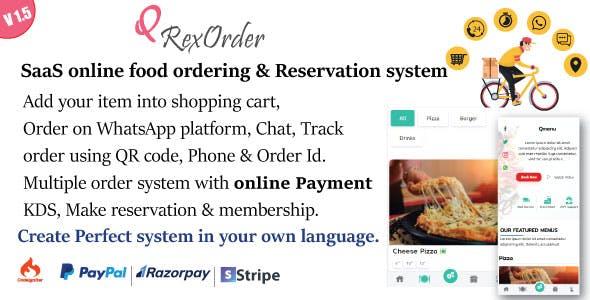 SaaS WhatsApp Online ordering / Restaurant management / Reservation system