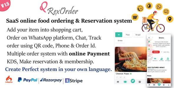 SaaS WhatsApp Online ordering / Restaurant management / Reservation system v1.5
