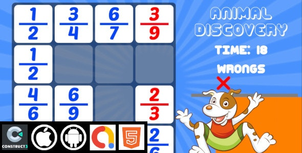 Animal Discovery Kids Educational Construct 3 HTML5 Game With Admob   HTML5 , Android , iOS - CodeCanyon Item for Sale