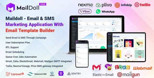 Maildoll - Email & SMS Marketing SaaS Application
