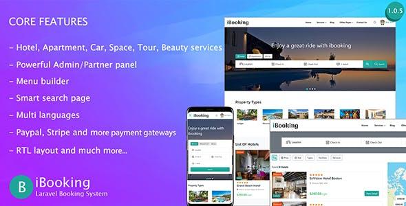 iBooking - Laravel Booking System