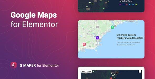 GMaper – Google Maps for Elementor