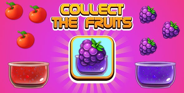 Collect The Fruits Endless Game (CAPX | HTML5 | Cordova) Mini Game