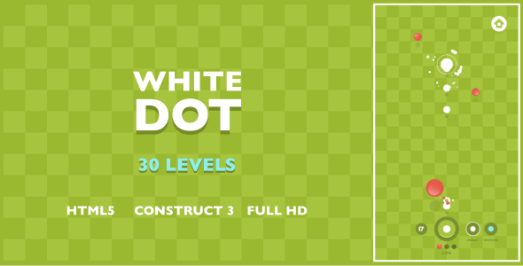 White Dot - HTML5 Game (Construct3) - CodeCanyon Item for Sale