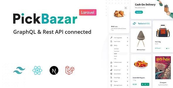Pickbazar Laravel v2.1.0 – React, Next, REST & GraphQL Ecommerce With Multivendor
