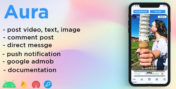 Aura - creative social network - CodeCanyon Item for Sale