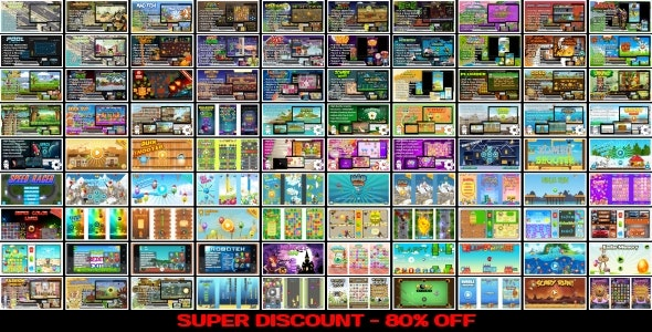 90 HTML5 GAMES!!! SUPER BUNDLE №5 (Construct 3   Construct 2   Capx) - CodeCanyon Item for Sale