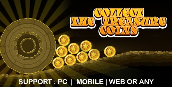 Collect The Treasure Coins (CAPX   HTML5   Cordova) Mini Game