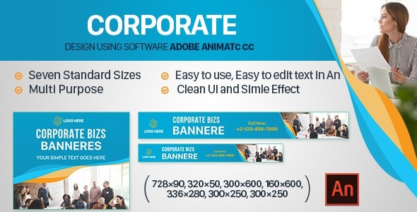 Corporate Banners Ad HTML5 (Animate CC) - CodeCanyon Item for Sale