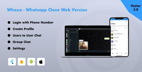 Whoxa Web - Whatsapp Chat Web App   Whatsapp web   Whatsapp web app with Admin Panel - CodeCanyon Item for Sale
