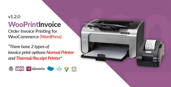 WooPrintInvoice   Order Invoice Printing for WooCommerce - CodeCanyon Item for Sale