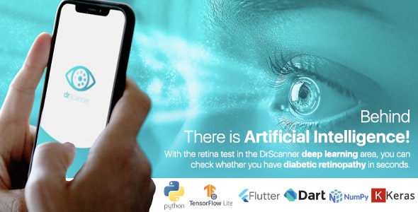 Flutter TensorFlow Lite Artificial Intelligence Application Detection of Diabetic Retinopathy - CodeCanyon Item for Sale