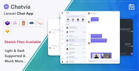 Chatvia - Laravel Pusher Chat App - CodeCanyon Item for Sale