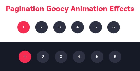 Pagination Gooey Animation Effects - CodeCanyon Item for Sale