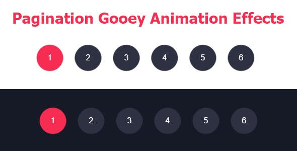 Pagination Gooey Animation Effects