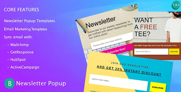 BOO Newsletter Popup - CodeCanyon Item for Sale