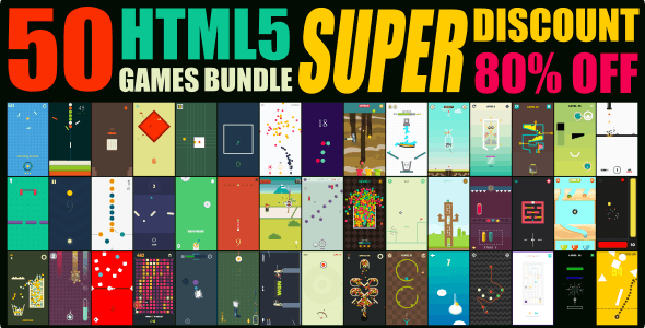 50 GAMES BUNDLE / HTML 5 / CONSTRUCT 3 - CodeCanyon Item for Sale