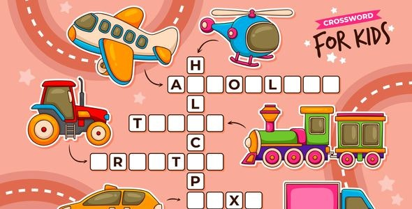 Crossword for Kids   Construct 3 - CodeCanyon Item for Sale