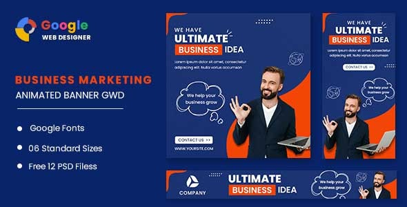 Business Strategy Animated Banner GWD - CodeCanyon Item for Sale