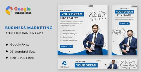 Business Marketing Animated Banner GWD - CodeCanyon Item for Sale