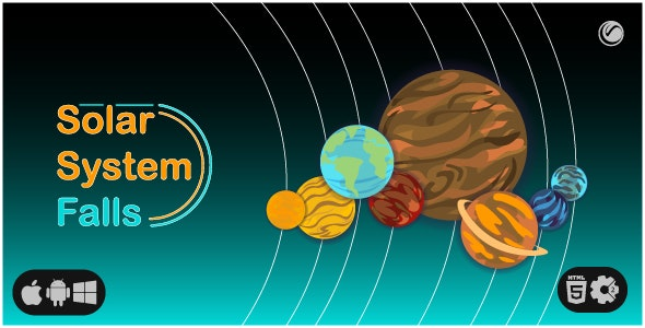 Solar System Falls | HTML5 • Construct Game - CodeCanyon Item for Sale
