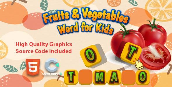 Fruits & Vegetables Word for Kids