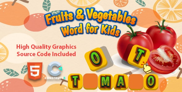 Fruits & Vegetables Word for Kids - CodeCanyon Item for Sale