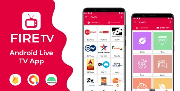 Live TV with Firebase Admin Panel and Admob , Facebook Ads