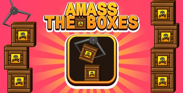 Amass The Boxes Game (CAPX   HTML5   Cordova) Mini Game - CodeCanyon Item for Sale