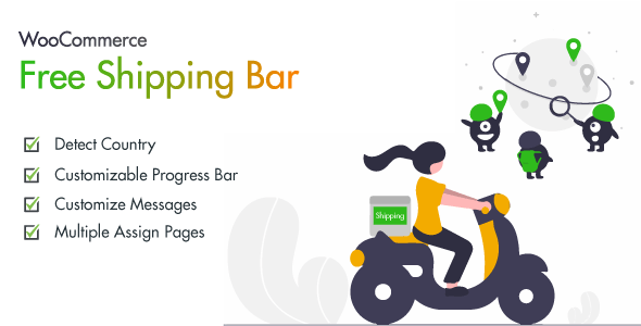 WooCommerce Free Shipping Banner