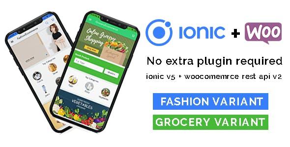 Ionic 5 woocommerce b2c mobile application