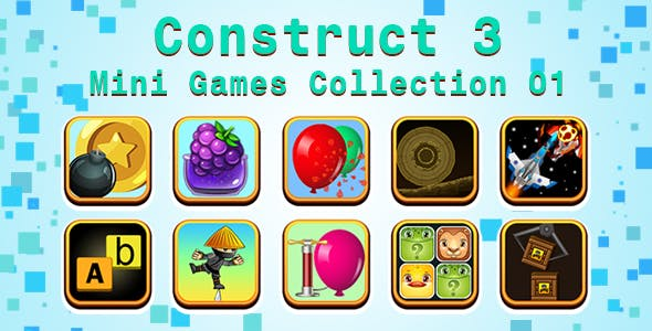 Mini Games Collection 01 (Construct 3 | C3P | HTML5) Customizable and All Platforms Supported