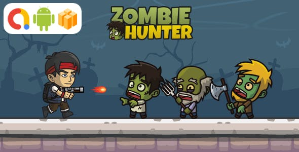 Zombie Hunter Android Game with AdMob + Ready to Publish