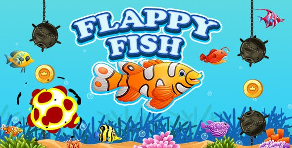 Flappy Fish Game (Construct 3 | C3P | HTML5) Admob and FB Instant Ready